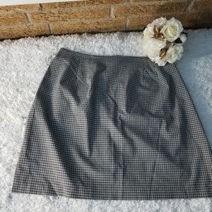 Route 66 Womens XL Houndstooth Skirt Black Gray